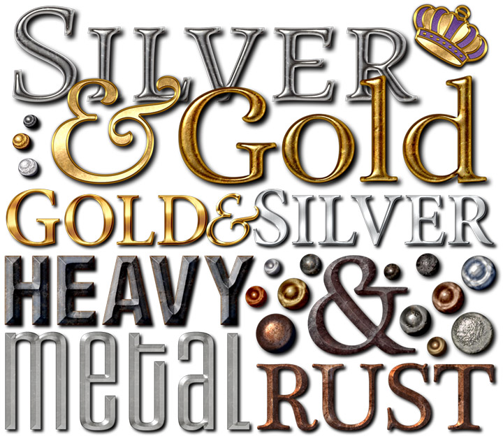 photoshop metal text